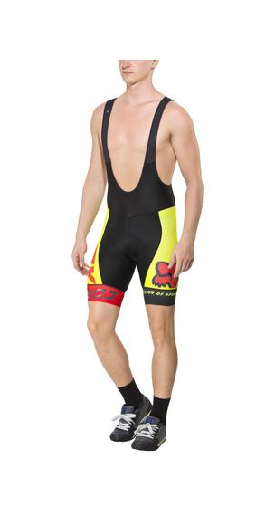 Fox Ascent Pro - Culotte corto con tirante Hombre - amarillo/negro